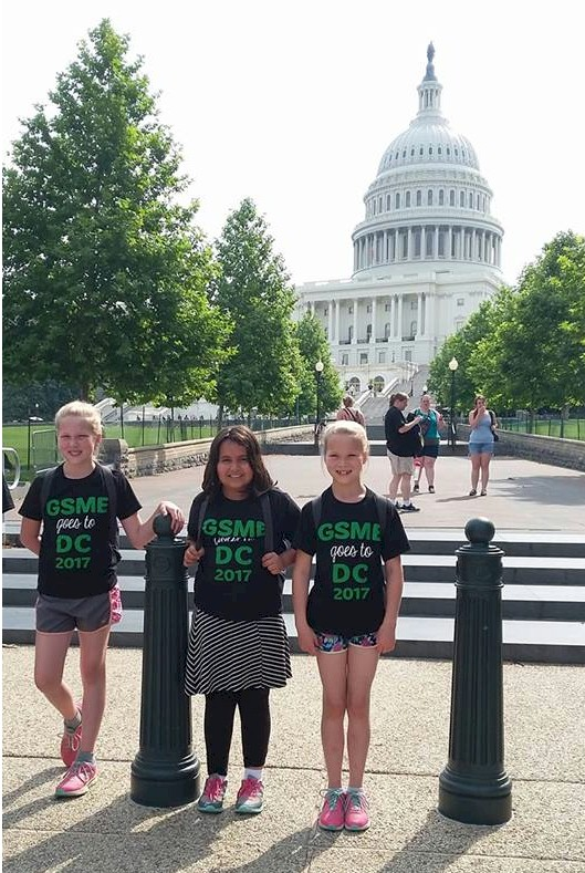 Girl Scouts vistied Washingting DC