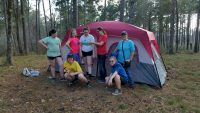 Earn a tent camping patch or tack it up a notch troop#1147 Cadette through Ambassador troop camping in the Davy Crockett National Forest over spring break. The girls earned primitive camping badge, Adventure badge, retired Flag Ceremony badge and Survival skills badge. It was an awesome 4 days!
