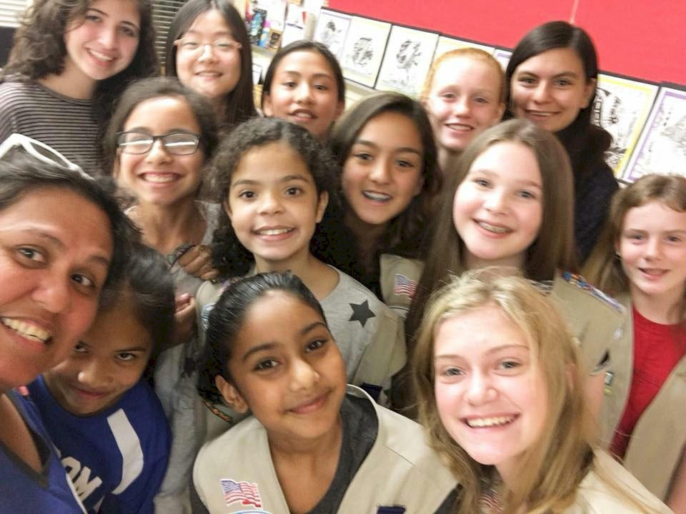 Cadette Girl Scout Selfie