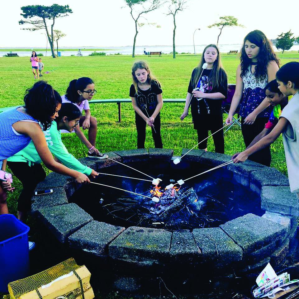 Girl Scouts Making S'mores