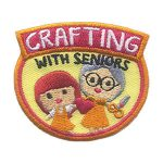 Girl Scout Crafting with Seniors Patch