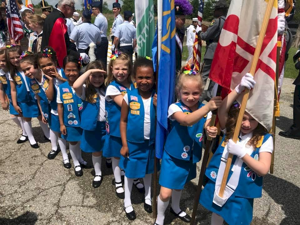 Daisy Girl Scout Color Guard