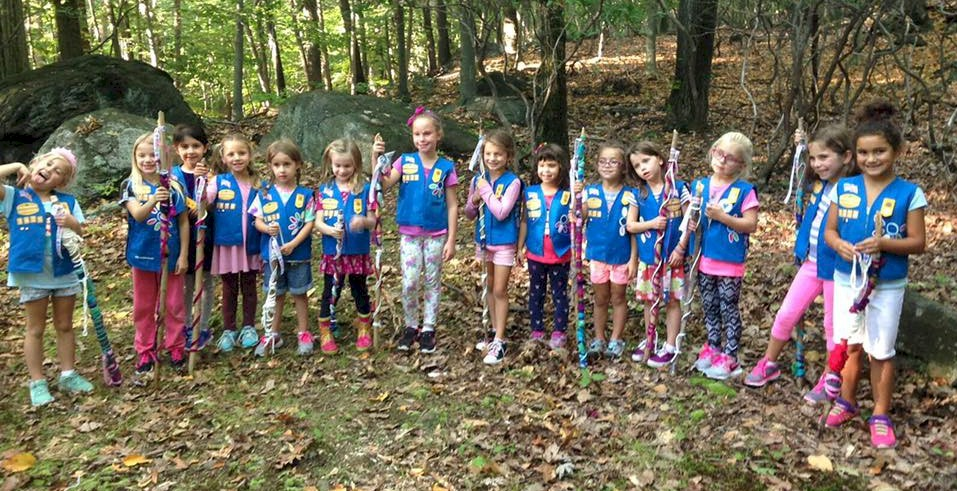 Daisy Girl Scouts Hiking