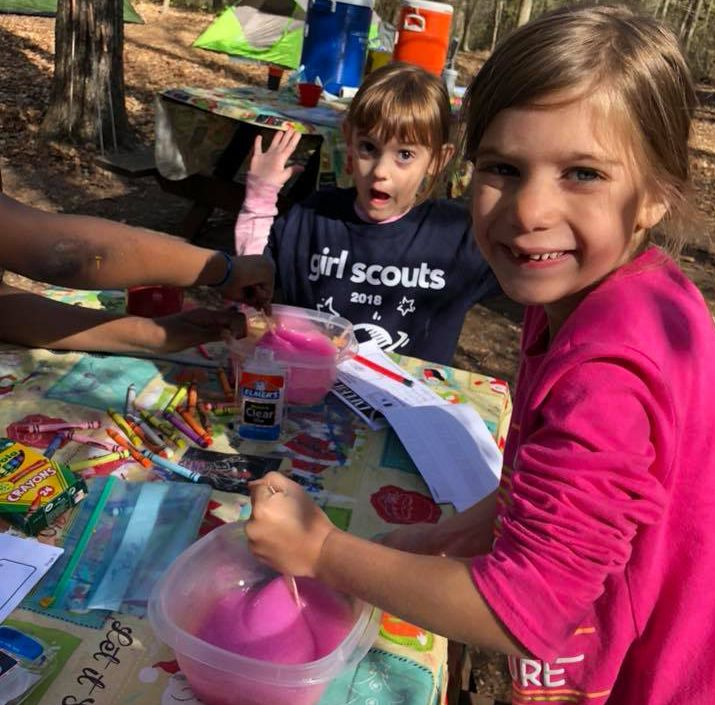 Daisy Girl Scouts Making Slime