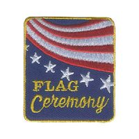 Girl Scouts Flag Ceremony Patch