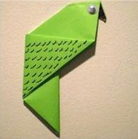 Girl Scout Origami Parot