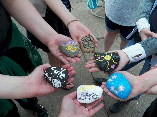 Seniors Hiding Painted Rocks