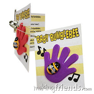 Baby Bumblebee Girl Scout Friendship SWAP Kit via @gsleader411