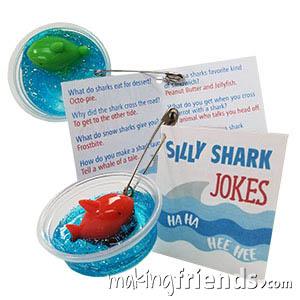Silly Shark Jokes Girl Scout Friendship SWAP Kit via @gsleader411