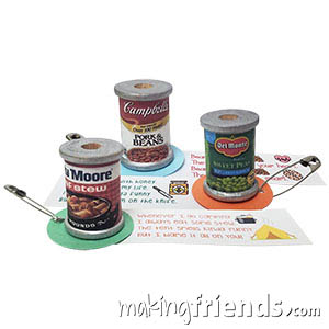Canned Food Girl Scout Friendship SWAP Kit via @gsleader411