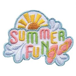 Girl Scout Flip Flops Summer Fun Patch
