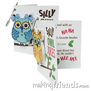 Silly Owl Joke Book Girl Scout Friendship SWAP Kit via @gsleader411
