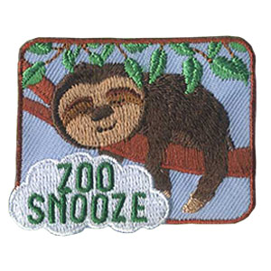 Girl Scout Zoo Snooze Patch