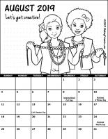 August 2019 Girl Scout Calendar