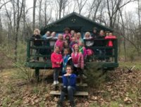 Daisy Girl Scout Troop  70908 from Springfield MO earning a fall camping patch.