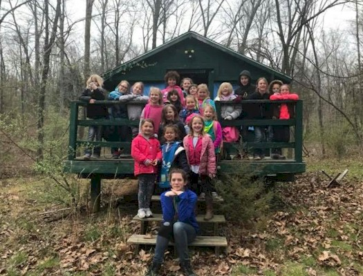 Daisy Girl Scouts Camping