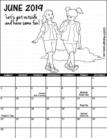 June 2019 Girl Scout Calendar