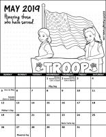 May 2019 Girl Scout Calendar