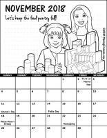 November 2018 Girl Scout Calendar