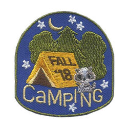 Girl Scout Fall Camping 2018 Fun Patch