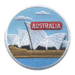 Girl Scout Australia Thinking Day Landmark Patch