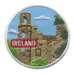 Girl Scout Ireland Thinking Day Landmark Patch