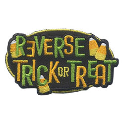 Girl Scout Reverse Trick or Treat Fun Patch