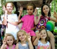 Daisy Girl Scouts Troop 1132, Troop Camping for the weekend and learning the promise.