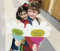 Daisy Girl Scouts Earning the Respect Myself and Others petal.