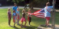Troop 14661 - Flag raising at Singing Hills.
