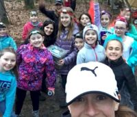 Troop 88187 Dracut MA took a selfie while  earning their camper badge spending 2 nights tent camping!