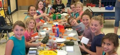 Junior Girl Scout Crafting for Seniors.