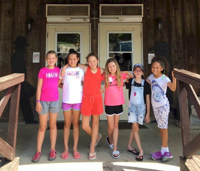 Junior Girl Scout Troop at a ranch.