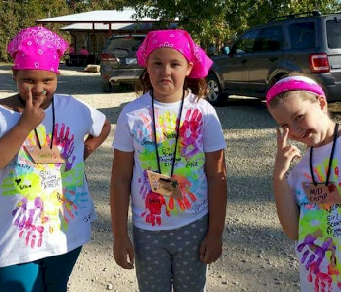 Junior Girl Scouts with Their Troop Shirts