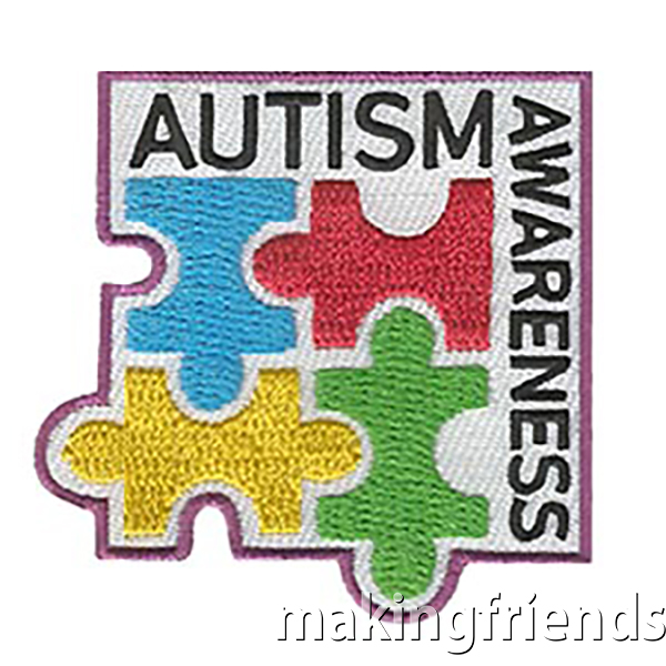 Just like each person is unique, each person with autism is also unique. Help your troop to understand that those with autism might communicate in different ways. #makingfriends #autismawareness #autism #awareness #girlscoutbadges #badges #scouts #boyscoutbadges via @gsleader411