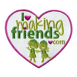 Girl Scout I Heart Making Friends Patch