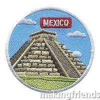 girl scouts mexico landmark fun patch $.69 each free shipping available