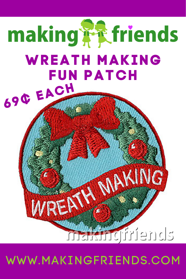 A fun way for your troop to celebrate the season is making wreaths. It's a great craft project to make for their family, community service, or as a fundraiser. #makingfriends #wreaths #wreathmaking #fundraiser #diy #celebrate via @gsleader411