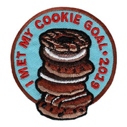 Girl Scout I Met My Cookie Goal 2019 Fun Patch