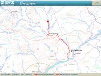 Downstream River Trace