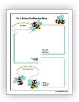 Honey Bee Garden Worksheet