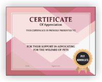 Pet Advocate Certificate