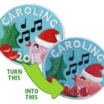 Upcycled Caroling Patches