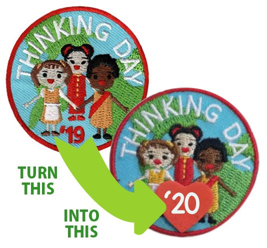 Upcycled Thinking Day* 2019 Patch GSUSA® feels that this product was infringing on their intellectual property. In response, we are discontinuing this product. Supplies are limited. Available at MakingFriends®.com while supplies last. via @gsleader411