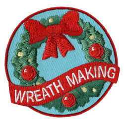 Girl Scout Wreath Making Fun Patch