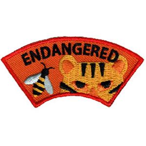 "The Endangered Animal Advocate Patch is from the Youth Squad Animal Welfare Patch Program®. MakingFriends®.com partnered with Youth Squad to bring you a rewarding community service program with step-by-step instructions for every age level to make a meaningful impact in their community. This is one of our ""Advocate"" level patches which are geared toward teens. Become an Animal Welfare Advocate by earning all 5 animal welfare advocate level patches. via @gsleader411"