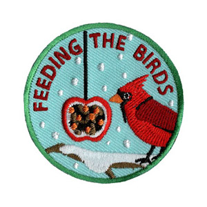 """Feeding The Birds Service Patch. MakingFriends®.com is partnering with Youth Squad to bring you the new Animal Advocate Patch Program® for animal welfare. This is one of our """"Friend"""" level patches which is great for younger achievers. Find out more about this program at MakingFriends®.com. via @gsleader411"""