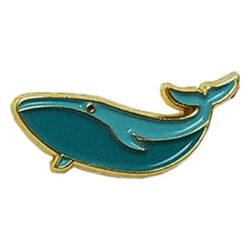 Enamel Whale Pin