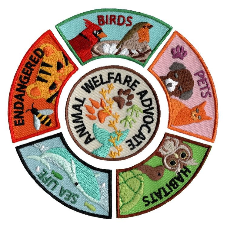 Animal Advocate Patch Group. Youth Squad brings you a rewarding community service program with step-by-step instructions for every age level to make a meaningful impact in their community. The Animal Advocate Patch group includes all 5 advocate level service patches and the Animal Welfare Advocate Patch. This program is designed to be flexible for anyone and any group. Younger achievers might choose Helping Hands, Friend or Volunteer level. More experienced achievers can earn the delegate pins. via @gsleader411
