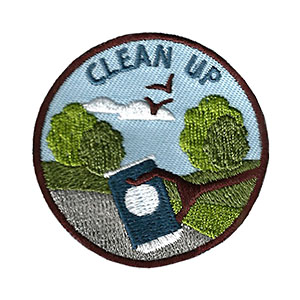"The Clean Up Service Patch is from the Youth Squad Environmental Patch Program®. MakingFriends®.com partnered with Youth Squad to bring you a rewarding community service program with step-by-step instructions for every age level to make a meaningful impact in their community. This is one of our ""Friend"" level patches which is great for younger achievers.   via @gsleader411"